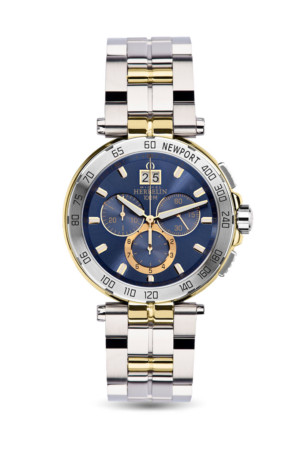 newport-36696-bt35-michel_herbelin-herrenarmbanduhr-chrono-bicolor